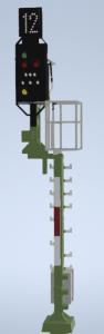 H0 Kompakt Einfahrsignal der DB mit Ausleger Mast DUMMY