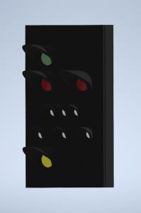 H0 Kompakt Hauptsignalschirm für Auslegermontage DUMMY
