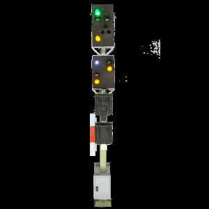H0 Kompakt Hauptsignal mit Vorsignal der DB mit geraden Mast
